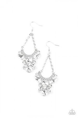 Bling Bouquets White Earring