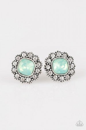 Little Lady Green Post Earrings