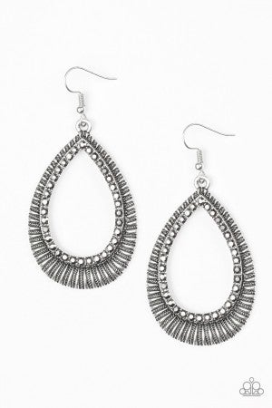 Right As REIGN Silver Earring