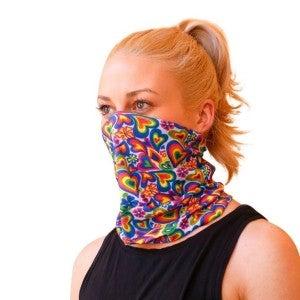 Rainbow love face-mask (11 ways to use)