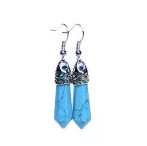 Blue stone dangles