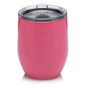 Hot pink Stemless wine