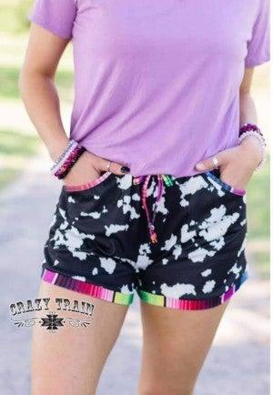 Shania Shorts**Cowhide