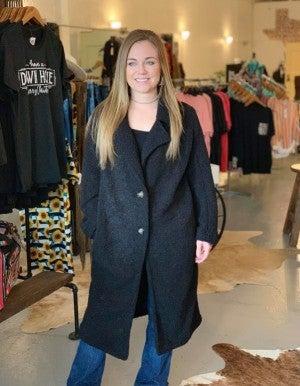 Black Button Coat