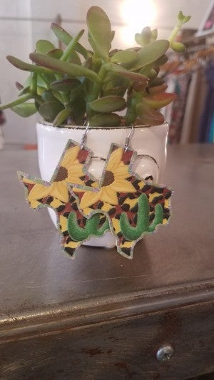 Texas Sunflower Earrings