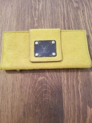 Mustard Large Up-Cycled LV Wallet