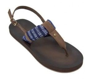 Montauk Navy Stripe Sandals