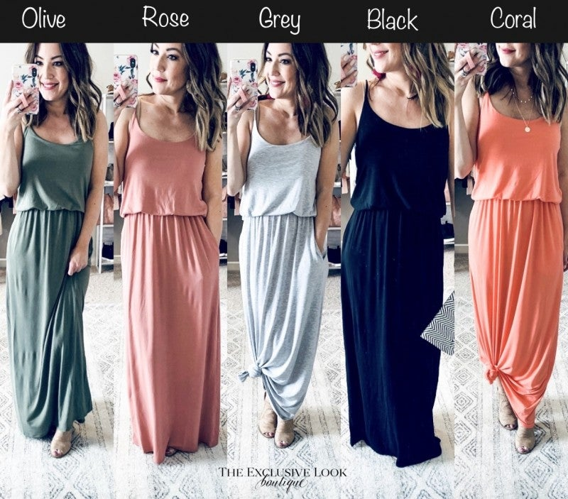 Maise Maxi Dresses- 5 COLORS
