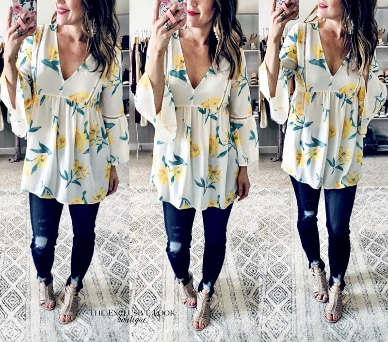 Floral Bells Tunic Top