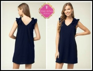 Parker Dress in Navy