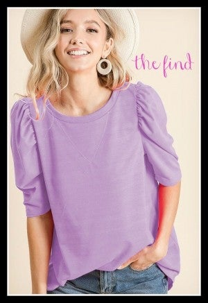 Poppy Top in Lavender