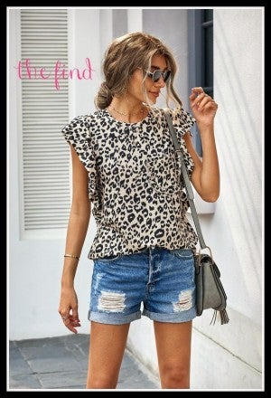 Sheridan Top in Leopard