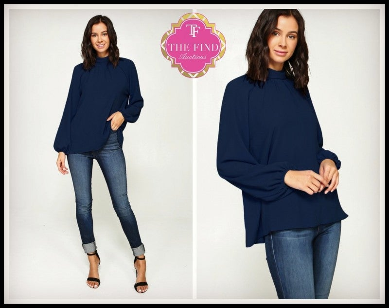 Jamison Top in Navy
