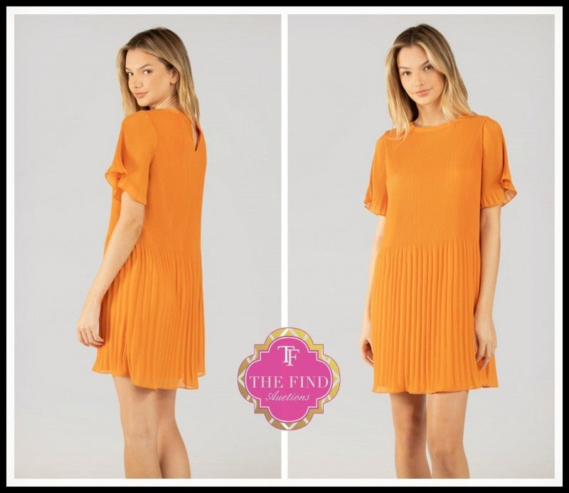 Sarah Dress in Tangerine