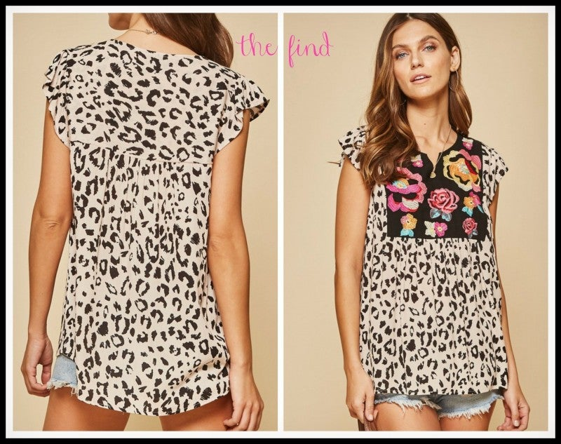 Joey Leopard Top