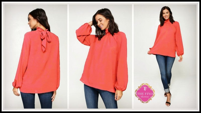 Jamison Top in Coral