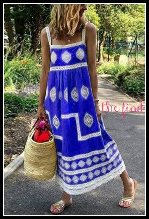 Hennessey Sleeveless Maxi in Blue