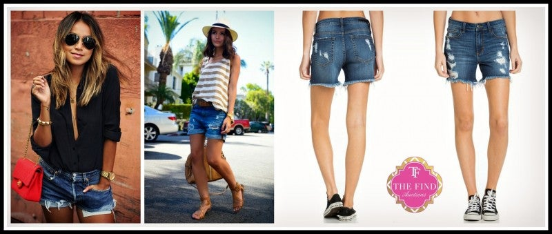 Finch Distressed Jean Shorts
