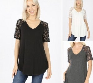 The Lace Sleeved Tee