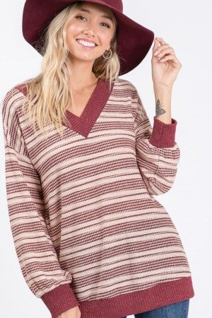 The Dotted Line V Neck