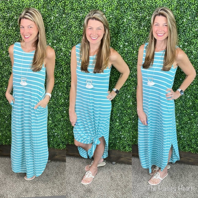 Select Stripes Maxi Dress