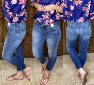 Judy Blue Hand Sand Blasted Relaxed Fit Mid Rise - LMTD FIRST SHIPMENT!!
