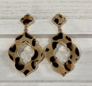 Leopard Jacquard Earrings