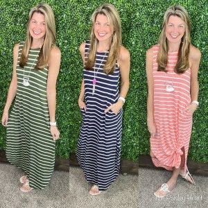 Select Stripes Maxi Dress