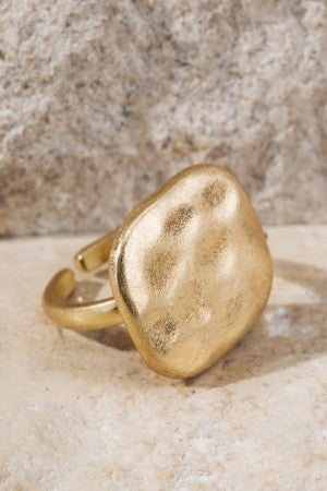 Hammered Metal Ring