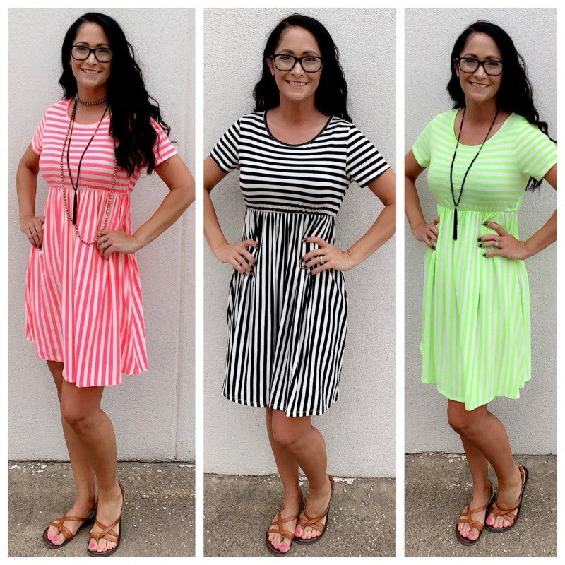 Better in Stripes Dress