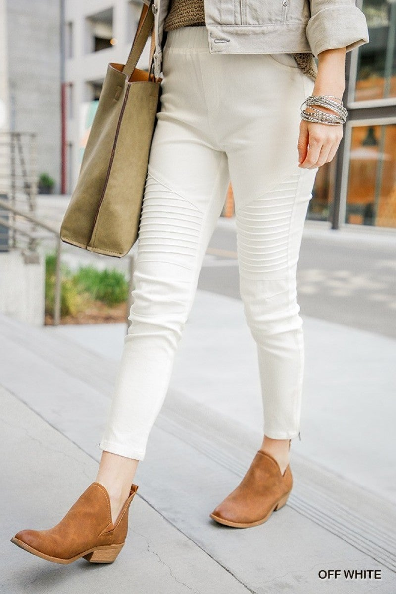 Ivory Moto Jeggings - LIMITED STOCK!!
