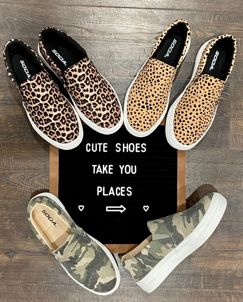Trendy Slide On Shoes - 3 print options!