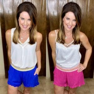Trim Detail Ruffled Shorts - 2 Colors! LMTD/NO RESTOCK!