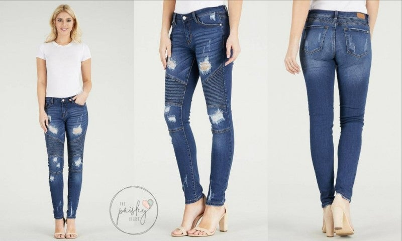 Judy Blue Distressed Moto
