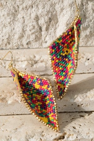 Summer Vibes dangle beaded earrings
