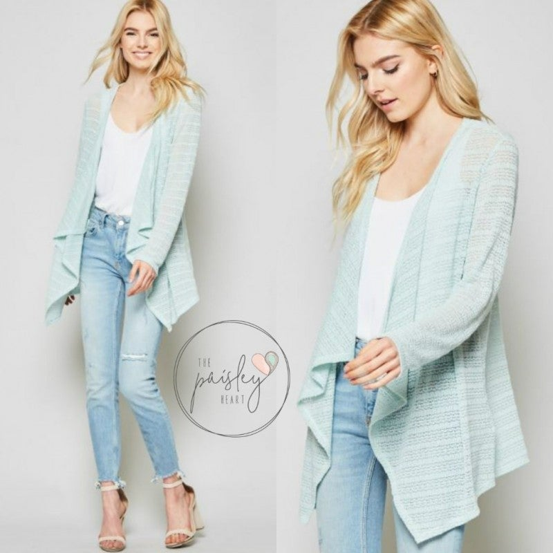 Mint to Comfort Cardigan
