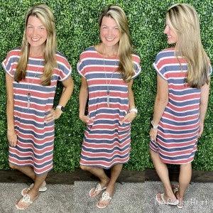 Prideful Stripes Midi Dress