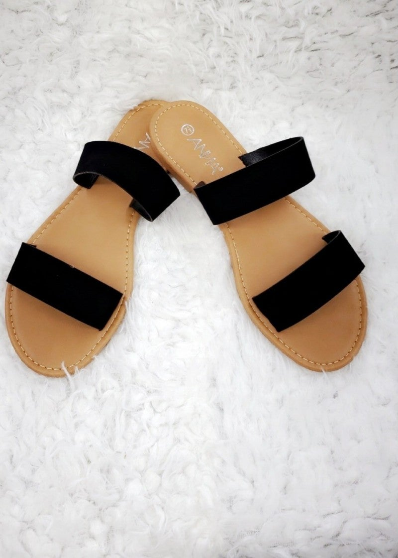 Double Striped Comfy Slides