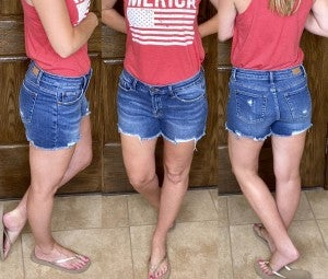 Judy Blue Fringe Cutoff Shorts - LIMITED STOCK!