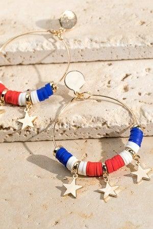 Full Of Pride Star Charm Earrings