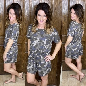 Finding Comfort Daily Camo Romper