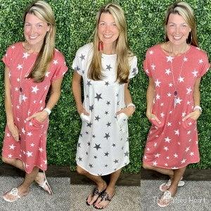 Stars for the Win Midi Dress
