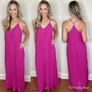 Pretty in Pleats Maxi Dress