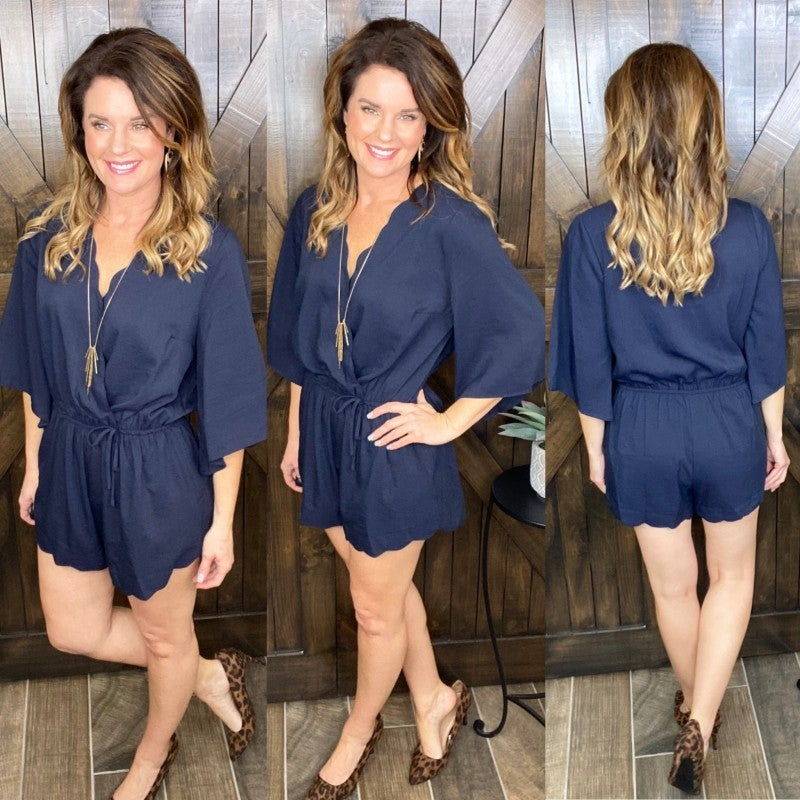 Waldorf Scalloped Romper