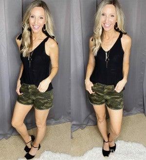 Judy Blue Camo Cutoff Shorts