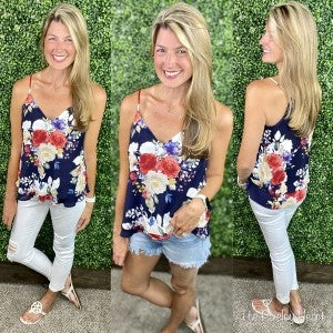 Floral Print Layered Cami Tank - LMTD//NO RESTOCK AVAILABLE!