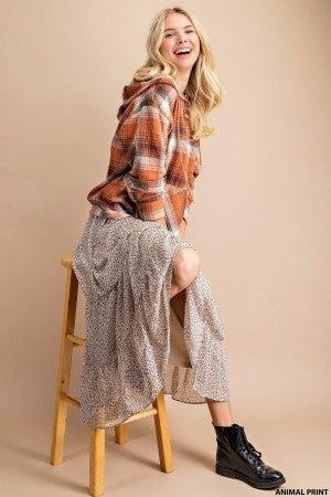 Liza Animal Print Skirt