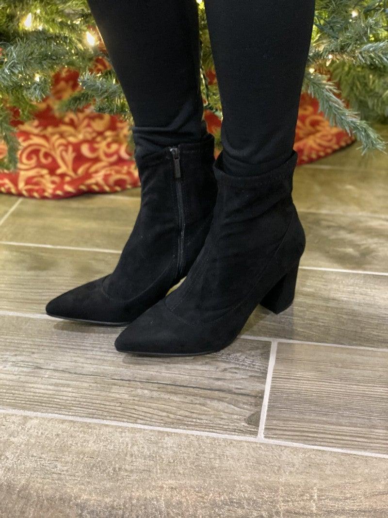 Alex High Ankle Suede Booties
