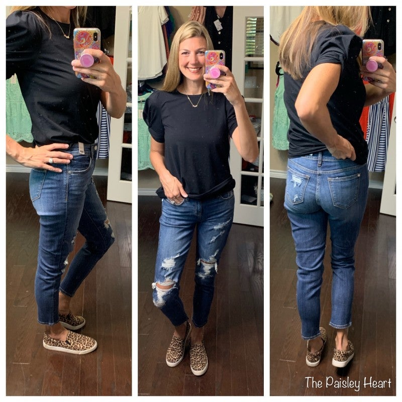 Judy Blue Distressed {Skinny Boyfriend Fit} Denim