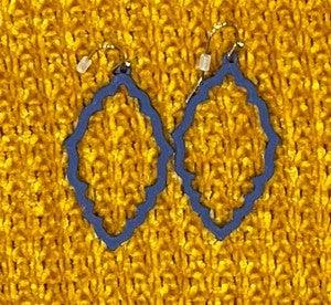 Jacquard Drop Pendant Earrings